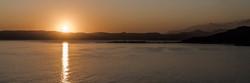 Sunset panorama on the Mediterranean coa