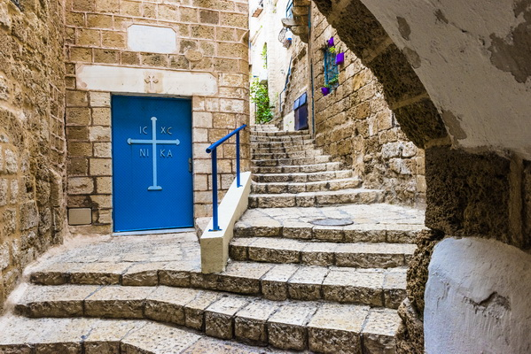 In the alleys of old Jaffa