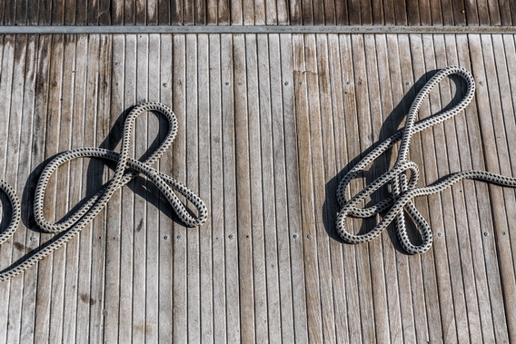 Two ropes on the pier