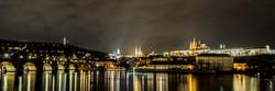 Night panorama of Prague