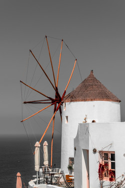 The old mill on the Greek island