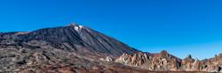 Panorama of the mountain range and Teide