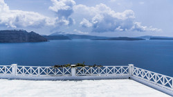 Mediterranean balcony in blue tones