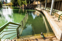 Backwater in the Jordan river