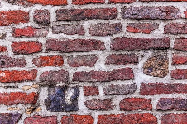 Colorful old brick wall