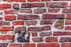 Colorful old brick wall