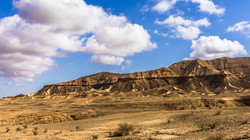 Clouds over the mountains in the Negev D