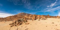 The sky over a stone desert