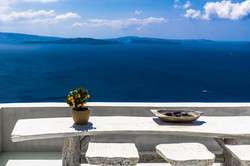 Still life of Santorini island