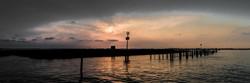 Sunset in the center of the Venetian lag