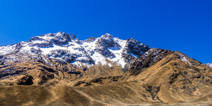 The white peaks of the Andes