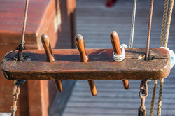 On the deck of an old ship