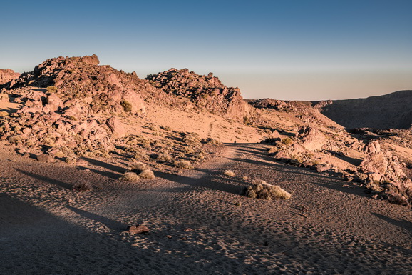Shadows in the rocky desert