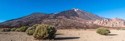 Evening view of Teide volcano