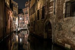 Summer midnight in the center of Venice.