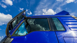 Blue truck and blue sky