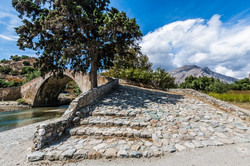 Stone Venetian bridge at the mountain st
