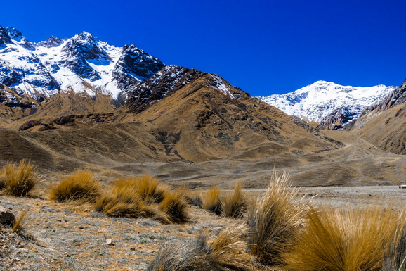 The white peaks of the high Andes