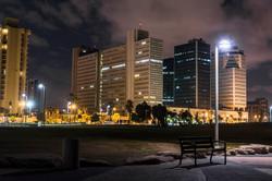 Evening on the promenade of tel Aviv