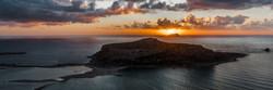 Sunset off the coast of Crete