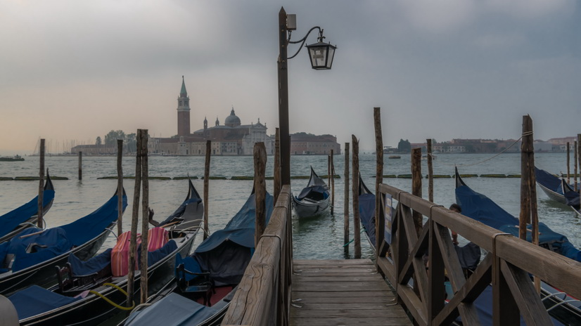 Sunrise on the Venice waterfront