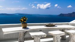 Afternoon on the island of Santorini