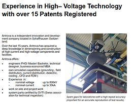 Experience in High– Voltage Technology with over 15 Patents Registered