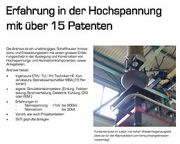 Erfahrung in der Hochspannung mit über 15 Patenten