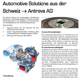 Automotive Solutions aus der Schweiz --> Antrova AG