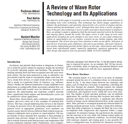 A Review of Wave Rotor Technology and Its Applications