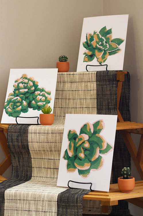 Greens Succulent Package (ALL 5 PRINTS)