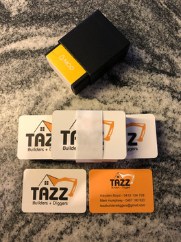 Tazz Builders and Diggers Business Cards