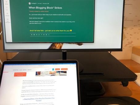 When Blogging Block* Strikes