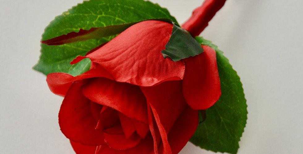 Scarlet Red Rose Groomsmen's Buttonhole