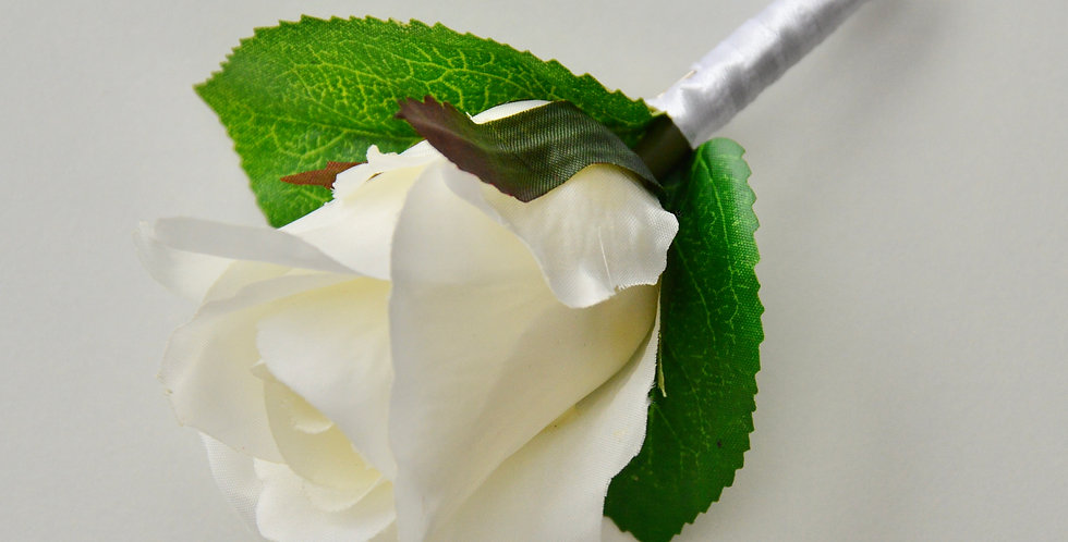 White Rose Groomsmen's Buttonhole