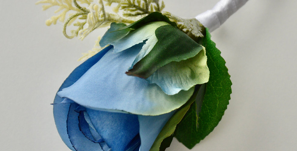 Blue Rose Groomsmen's Buttonhole