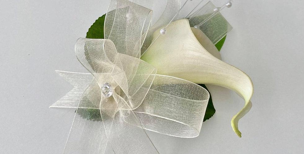 Cream Calla Lily Wrist Corsage