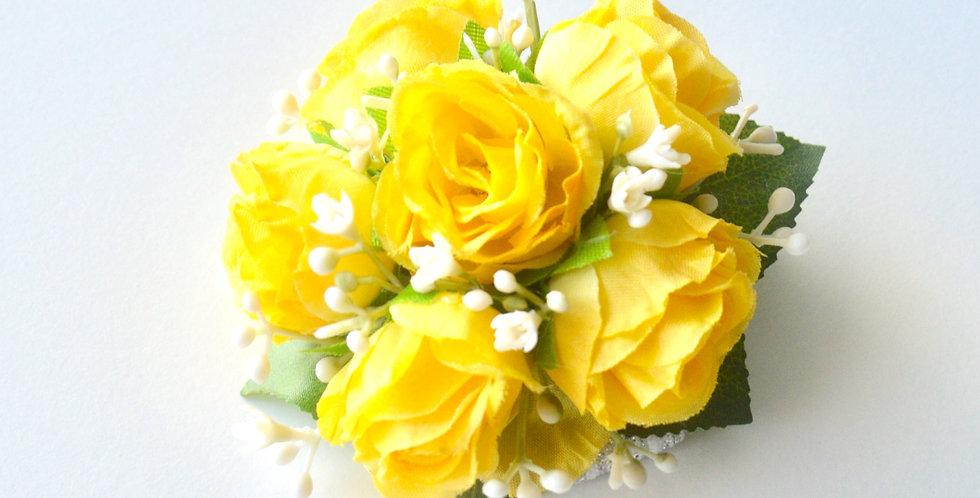 Yellow Spray Rose Wrist Corsage