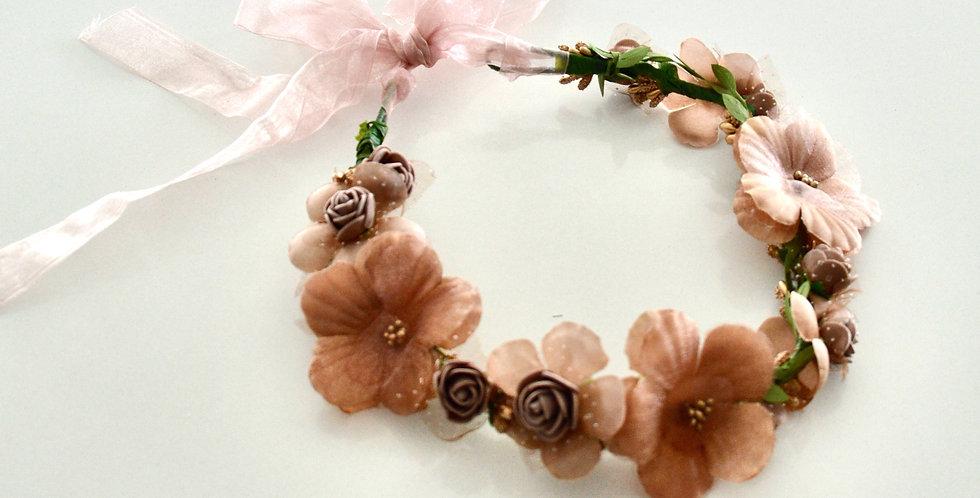 Rose Gold Flower Crown