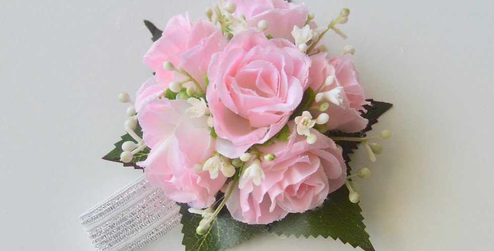 Pale Pink Rose Spray Wrist Corsage