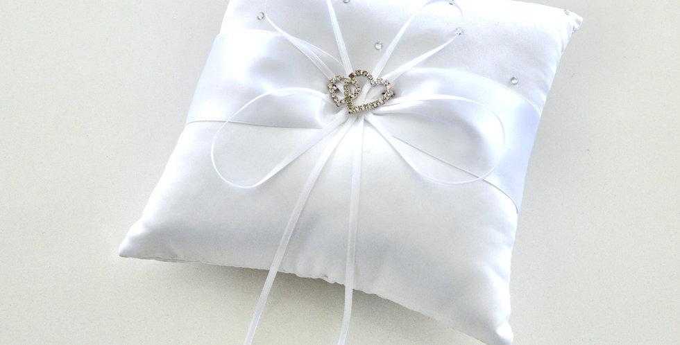 White Satin Ring Cushion
