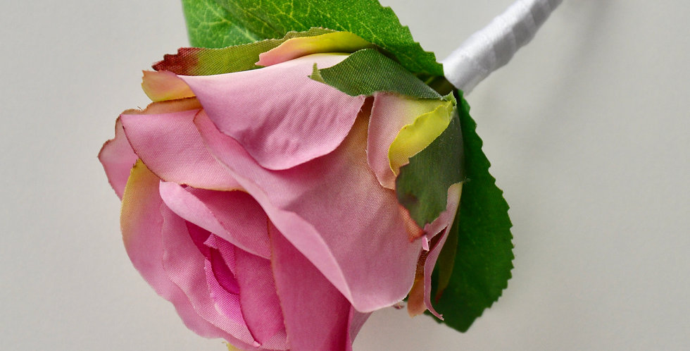 Bright Pink Rose Groomsmen's Buttonhole