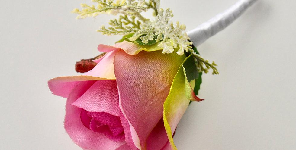 Pink Rose Groomsmen's Buttonhole
