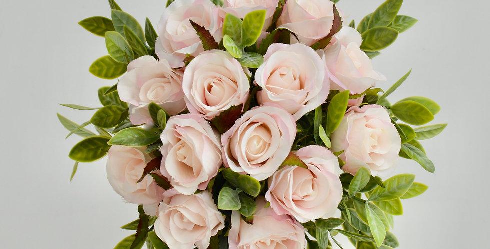 Rustic Blush Pink Rose Wedding Bouquet