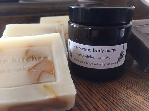 A body butter and any soap