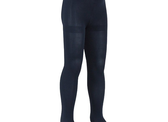 Plain navy microfiber tights