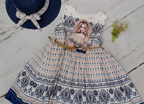 Perri blue dress & hat