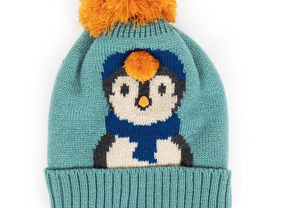 Green penguin hat