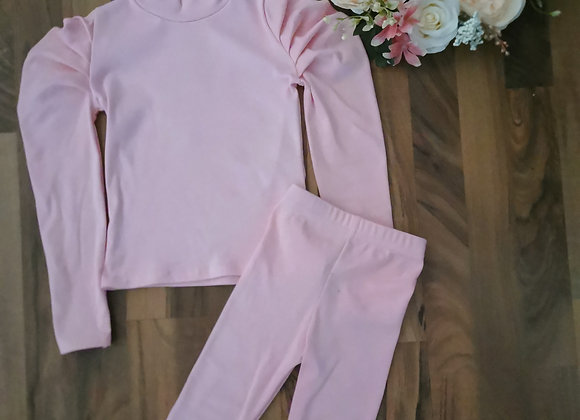Pink ruffeled 2 piece