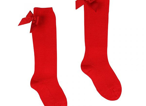 Condor red crochet socks